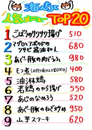 日吉の創作料理居酒屋人気メニュー